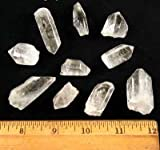 "Clear Quartz Points ""A/B"" Grade (5/8"" - 1.25"") - 10pcs."