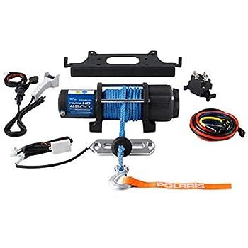 amazon com polaris pro hd 4 500 lb winch with rapid rope