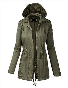 Amazon.com: BIADANI Women Military Anorak Safari Hoodie Jacket ...
