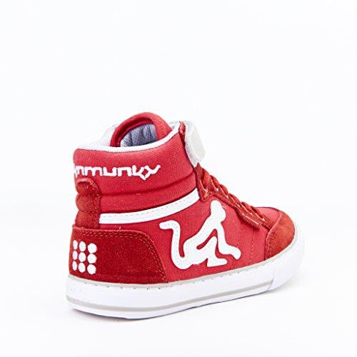 DrunknMunky Boston Classic, Zapatillas de Tenis para Niñas Rosso/grigio