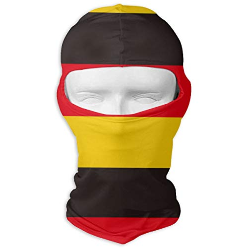 eathable Balaclava Full Face Mask, Windproof Anti-dust UV Protection Hood for Outdoor Skiing Cycling Hiking Motorcycle Gear - Germany Flag Strapes ()