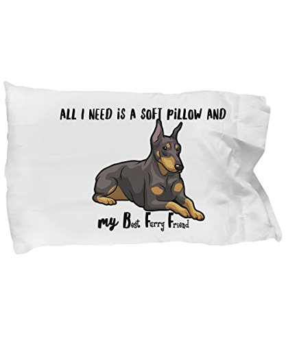Countertude Sweet Dreams - All I Need is a Soft Pillow and My Best Furry Friend - I Love My Doberman - Soft Microfiber Pillowcase