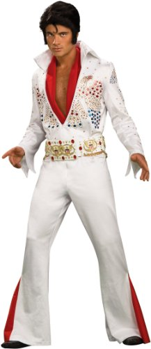 Elvis Super Deluxe Grand Heritage Costume, White, X-Large -