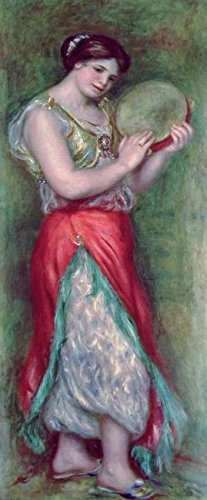 wall-art-print-entitled-dancing-girl-with-tambourine-1909-by-the-fine-art-masters-4-x-10