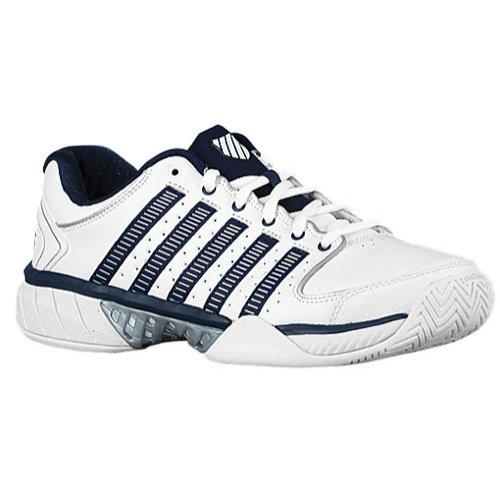 K-Swiss Hypercourt Express LTR Mens Tennis Shoes (White/Navy/Silver) (11 D(M) US)