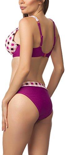 Antie Bikini Conjunto para mujer Tasmania S Lila/Beige