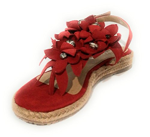 Apepazza 35 ROSSO Mujer EU CORDA Para Rojo Rojo Sandalias rq74zawr