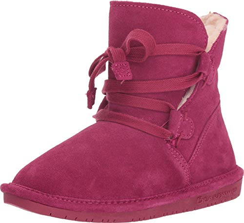 BEARPAW New Kid's Zora Youth Bootie Pom Berry 2