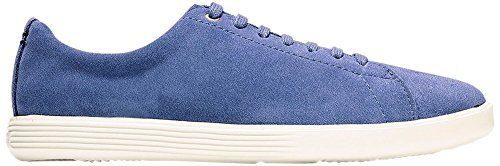 Cole Haan Women's Grand Crosscourt II Washed Indigo Suede/White 8 B US