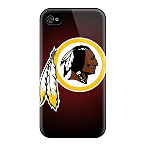Iphone 4/4s Well-designed Hard Cases Covers Protector (washington Redskins)
