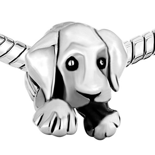(Pugster Sleepy Cute House Puppy Dog Animal Beads Fits Pandora Charms Bracelet Model:)