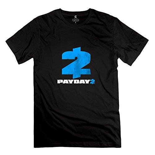 payday-2-logo-nerdy-short-sleeve-black-shirts-for-guys-size-xs