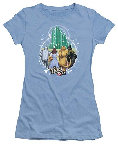 Juniors The Wizard Of Oz Emerald City Shirt, Carolina Blue, - Kansas Metro City North
