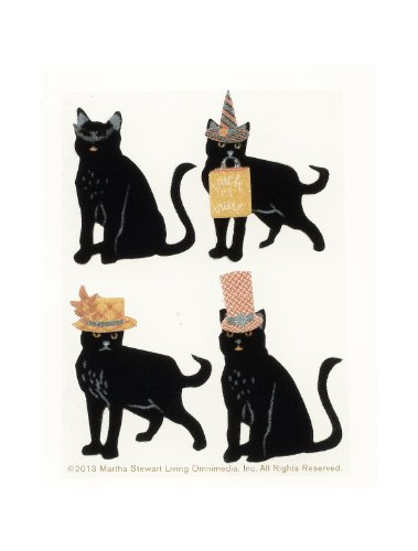 - Martha Stewart Crafts Halloween Stickers, Animal Masquerade Cats