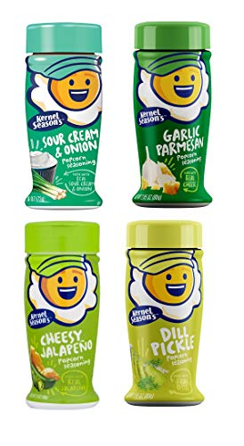 Kernel Seasons 4 Pack Seasoning Kit (Sour Cream & Onion,Garlic Parmesan,Cheesy Jalapeño, Dill Pickle) ()