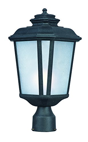 Maxim Lighting 3340 Radcliffe Outdoor Pole/Post Mount Lantern, Black Oxide Finish, 9 by 17.5-Inch