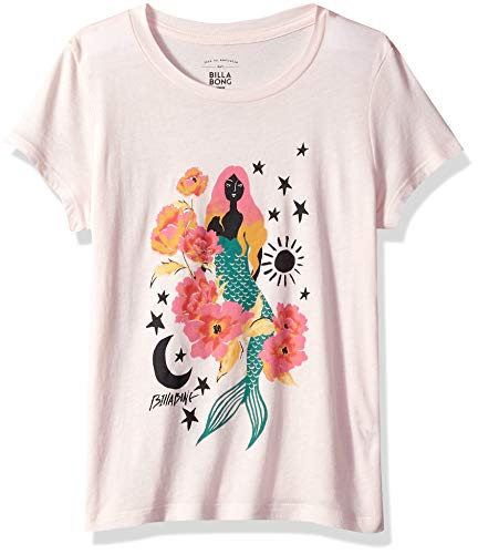 (Billabong Girls' Girls' Mermaid Power T-Shirt Pink Lily Medium)