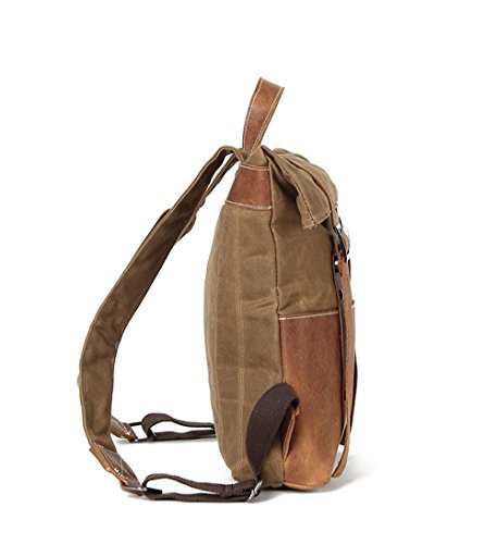 Waterproof Cloth Shoulder Men Nongniml Camp Backpack Waxed Hunting Coffee Bag Waxed Gray Vintage Reinforced Bag Backpack Thicken Canvas Trekking FzxqwAgx