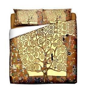 Parure Copripiumino Matrimoniale Klimt.Tessile Gustav Klimt L Albero Della Vita Copripiumino Matrimoniale Stampa Digitale Due Federe Coordinate Idea Regalo Per San Valentino Saint