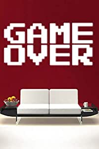 Walliv Decals Game Over Wall Quote Wall Quotes [sdt041]