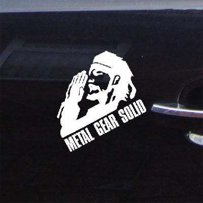 (Decoration Window Notebook White Auto Ps3 Snake Art Adhesive Vinyl Decal Sticker Die Cut Metal Gear Solid Wall Vinyl Decor Car Home Decor Laptop Bike Car Macbook Wall Art)