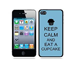 iphone covers Keep Calm And Eat A Cupcake Aqua - Protective Designer BLACK Case - Fits Apple Iphone 6 4.7 / 4G