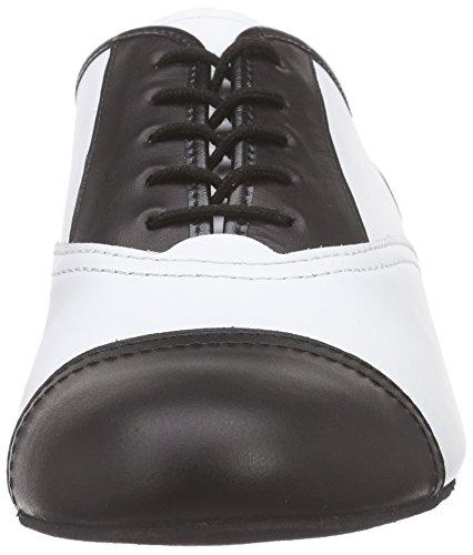 Diamant Men's 077-025-027 Ballroom Dance Shoes, Black/White Mehrfarbig (Schwarz/Weiß)
