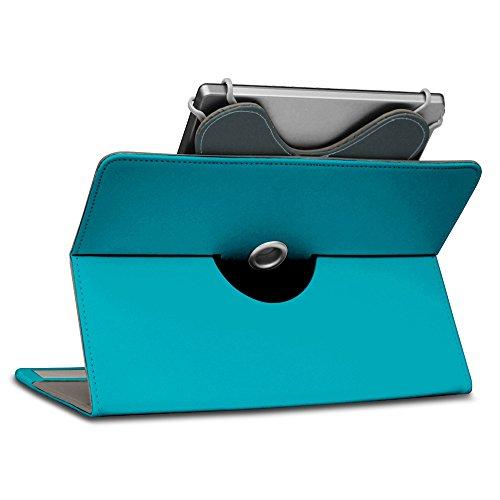 Jay-Tech TXE10DS TXE10DW Tablet Hülle Tasche Schutzhülle Case Schutz Cover 360° Drehbar, Farben:Blau Türkis