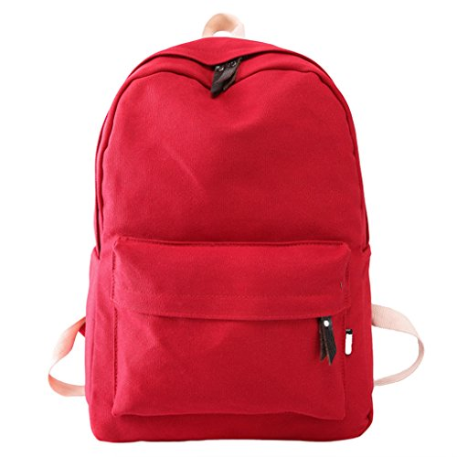 per zaino Satchel viaggio scuola zaino Red Kimruida borsa donne adolescente Bookbags da tela Red wUq0xvX
