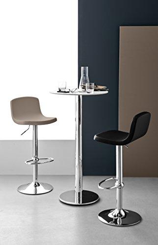 Connubia Joe Swivel Stool - Metal Stained Chromed Frame - Ekos Black Seat