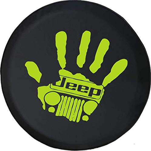 Jeep Tire Cover for Spare Tire Jeep Wave Grill You Get it or You Dont Handprint Red Ink Black 29 Inch