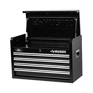 Husky 26 in. W 4-Drawer Tool Chest, Black