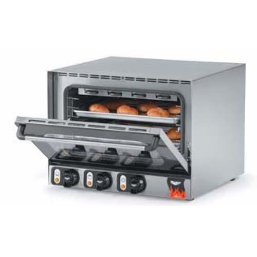 Vollrath (40703) 23-7/16'' Half-Size Electric Countertop Convection Oven - 3-Shelves - C
