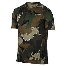 Nike Men's Pro Hypercool Camouflage Army T-Shirt (Medium)