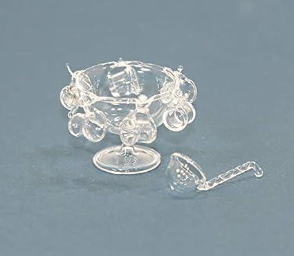 Dollhouse Miniature Artisan Clear Swirl Vase by Philip Grenyer