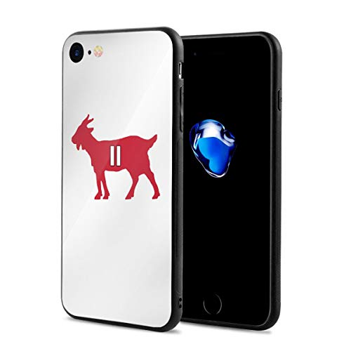 iPhone 8 Case Atlanta Julio Goat Ultra-Thin Back Case Shock-Absorption Design Printed Pattern Silicone Bumper Cover for Apple iPhone 7/8