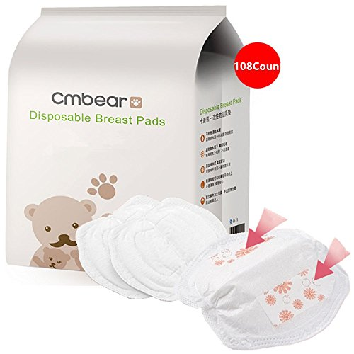 Nursing Pads,Pad Stay Dry Disposable Breast Pads,Disposable Anti-galactorrhea,Disposable Nursing Pads for Breastfeeding Mothers (1 Packs of 108pc) Super Absorbent Ultra Comfortable Individually Wrapp