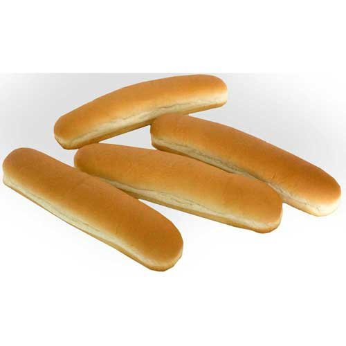 Klosterman Baked Hinged Hot Dog Bun, 10 inch -- 72 per case. by Klosterman