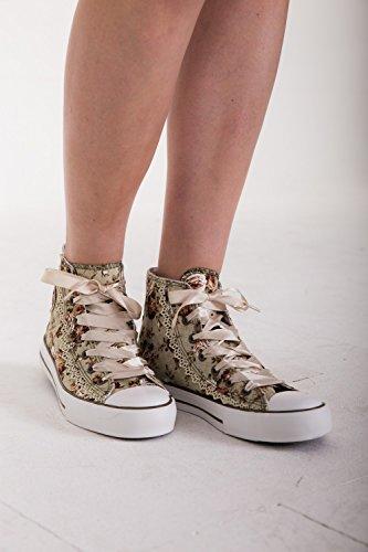 Krüger - Damen Trachtenschuhe, Sneaker Rokoko (Artikelnummer: 4124-15) Natur