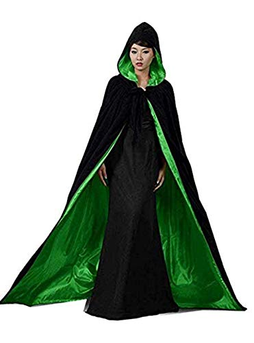 Special Bridal Adult Vampire Costumes Velvet Witch Cloak Black Velvet Cape Adult Cloaks for Adults 2XL -