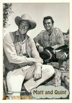 Burt Reynolds James Arness trading card Gunsmoke TV show 1993 Pacific #42 Matt Dillon Quint Asper from Autograph Warehouse