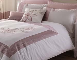 Catherine Lansfield Tilley - Juego de funda nórdica (260 x 220 cm) y 2 fundas de almohada (50 x 75 cm), diseño floral, color rosa