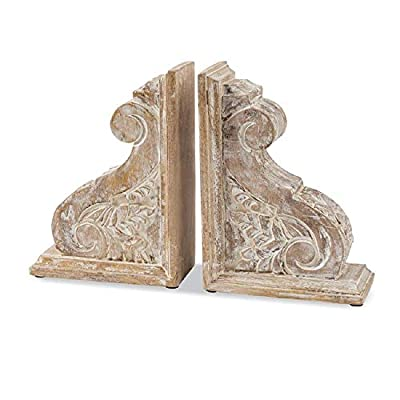 Mud Pie Carved Scroll Corbel