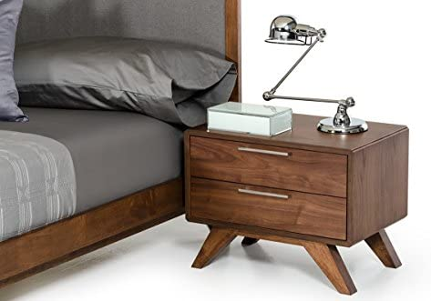Limari Home The Grosetto Collection Modern Veneer Bedroom Storage Nightstand