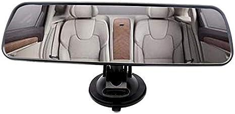 miroir clair clair R/étroviseur int/érieur universel R/étroviseur daspiration grand angle ventouse miroir pare-brise voiture Bus SUV camion 24,8 * 7 cm R/étroviseur