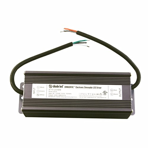 Diode LED DI-TD-12V-60W 60 Watt Omnidrive Electronic Dimmable LED Driver 12V DC by Diode LED