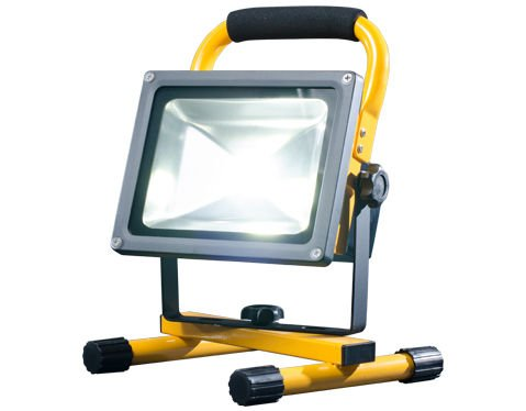 FLOOD-IT PRIME 20W LED Flood Light – Portable Work Light for Large Areas – Dust Proof, Water Resistant, IP65 Rated – 130ft Range – 1500+lm - 4+Hrs Per Charge – Premium Li-Ion Batteries - Yellow by FLOOD-IT