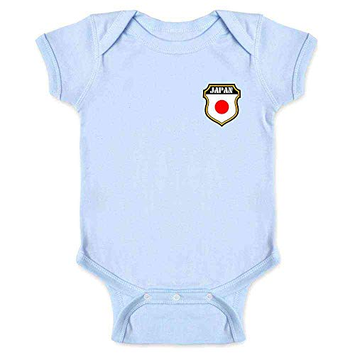 Japan Soccer Retro National Team Light Blue 6M Infant Bodysuit