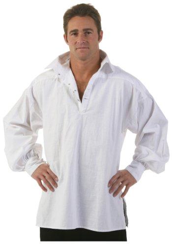 Snow White Costume Shirt (Men's White Renaissance Shirt - M)