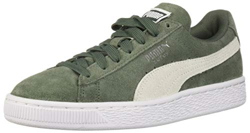 PUMA Womens Suede Classic Sneaker, Laurel Wreath White Deal (Large Image)